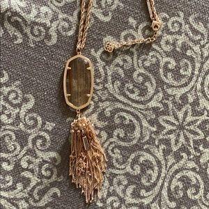 Long rose gold Kendra Scott necklace